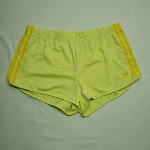 Adidas Woman's Short Gym Shorts Yellow Medium EUC